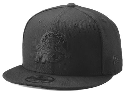 Hamilton Tiger-Cats New Era CFL Blackout 9FIFTY Snapback Cap