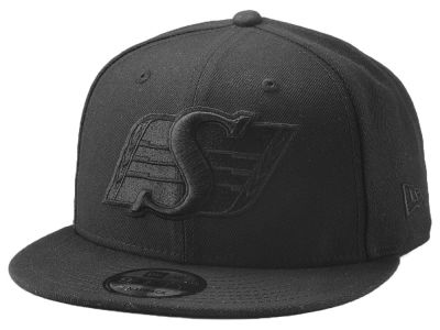Saskatchewan Roughriders New Era CFL Blackout 9FIFTY Snapback Cap
