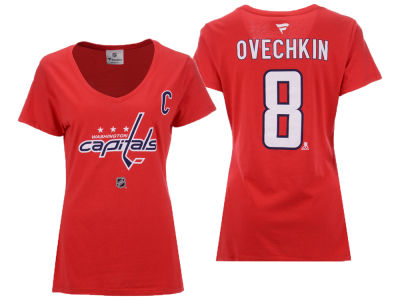 Washington Capitals Alexander Ovechkin Majestic NHL Women's Player T-Shirt