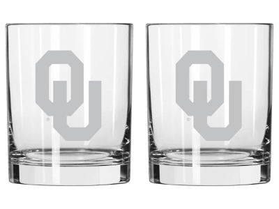 Oklahoma Sooners Boelter Brands 14oz Rocks Glass Set