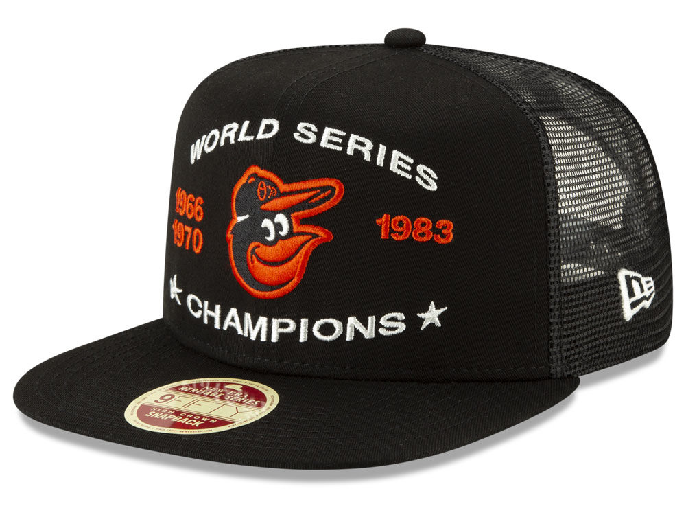 1da754a0bdc Baltimore Orioles New Era MLB Team Front Trucker 9FIFTY Snapback Cap ...