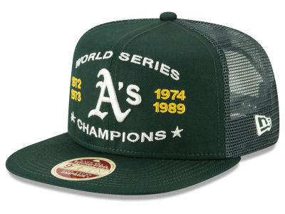 more photos 8e984 f599f ... authentic oakland athletics new era mlb team front trucker 9fifty  snapback cap 367ae 0319c