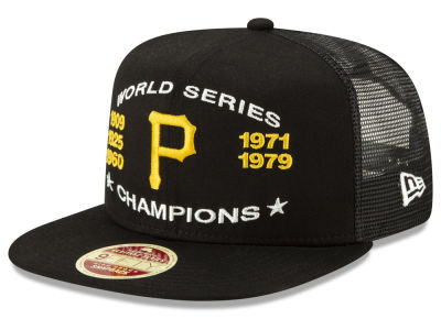 c8624efbe98 Pittsburgh Pirates New Era MLB Team Front Trucker 9FIFTY Snapback Cap