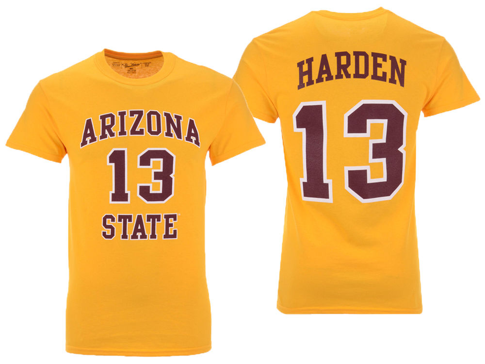 Arizona State Sun Devils James Harden Retro Brand NCAA Men s Throwback Name  and Number Basketball T-Shirt  ef2b1e33c