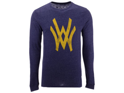 West Virginia Mountaineers Retro Brand NCAA Men's Mock Twist Long Sleeve T-Shirt