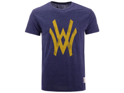 West Virginia Mountaineers Retro Brand NCAA Men's Retro Logo Tri-blend T-Shirt