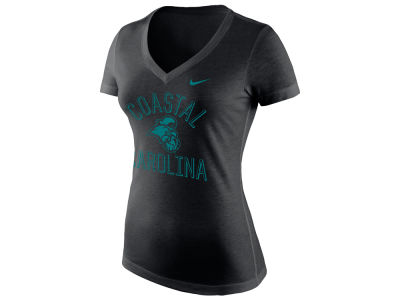Coastal Carolina Chanticleers Nike 2018 NCAA Women's Tri-Blend V-Neck T-shirt