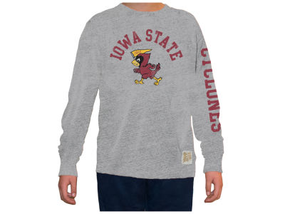 Iowa State Cyclones Retro Brand NCAA Youth Mock Twist Long Sleeve T-Shirt