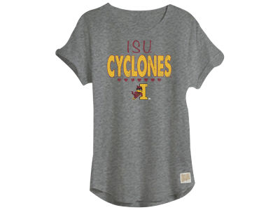 Iowa State Cyclones Retro Brand NCAA Youth Girls Rolled Sleeve T-Shirt