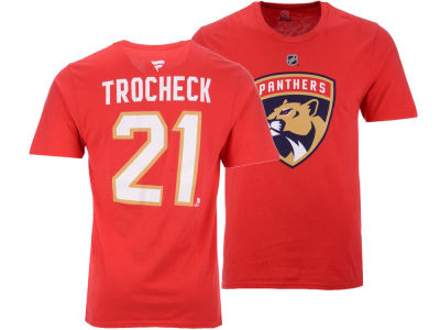 Florida Panthers Vincent Trocheck NHL Men's Authentic Stack Name & Number T-Shirt