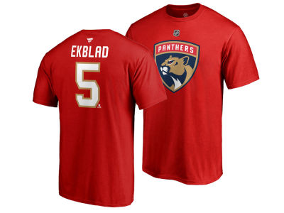 Florida Panthers Aaron Ekblad NHL Men's Authentic Stack Name & Number T-Shirt