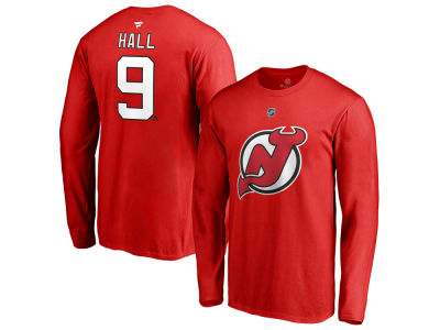 New Jersey Devils Taylor Hall NHL Men's Authentic Stack Name & Number T-Shirt