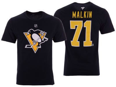 Pittsburgh Penguins Evgeni Malkin NHL Men's Authentic Stack Name & Number T-Shirt