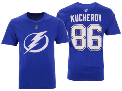 Tampa Bay Lightning Nikita Kucherov NHL Men's Authentic Stack Name & Number T-Shirt
