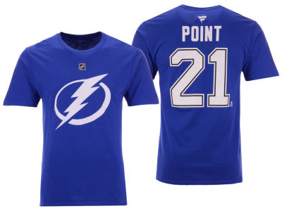 Tampa Bay Lightning Brayden Point NHL NHL Men's Authentic Stack Name & Number T-Shirt