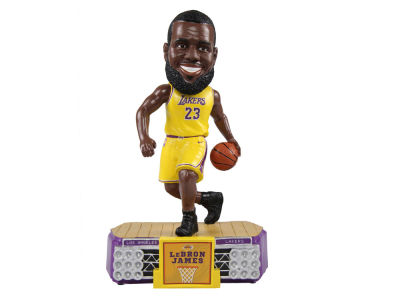 Los Angeles Lakers LeBron James Forever Collectibles Stadium Lights Bobblehead