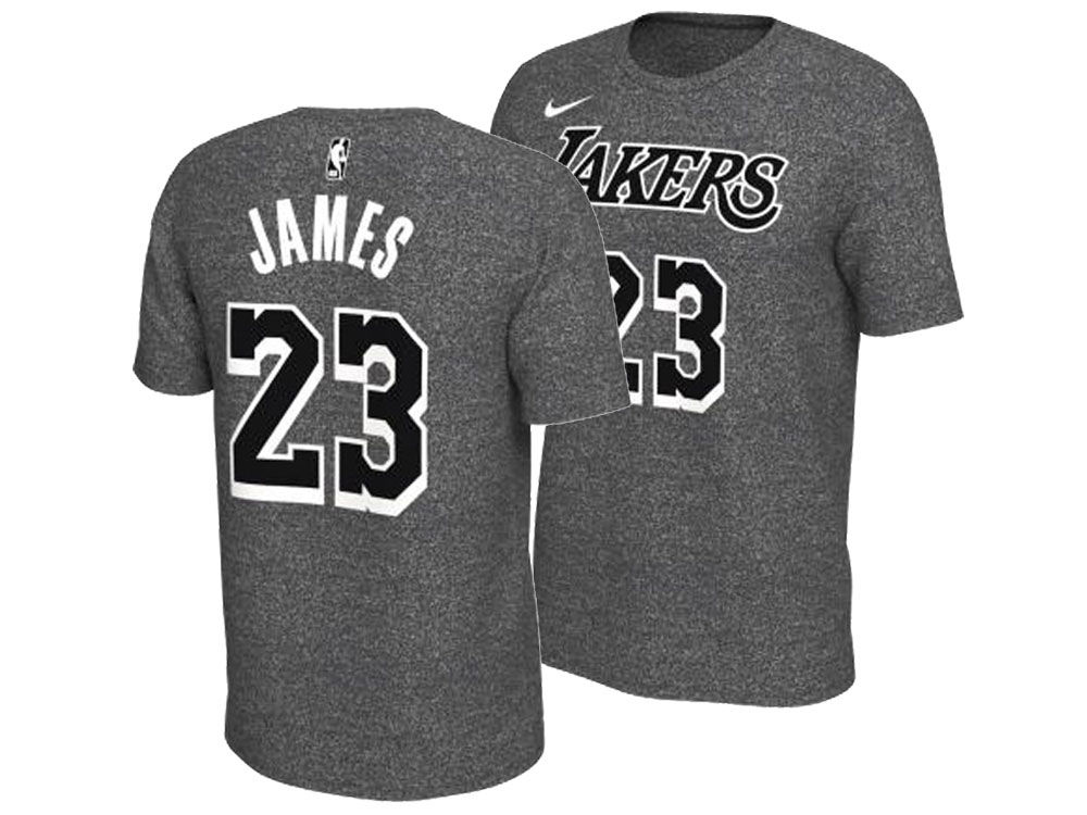 Los Angeles Lakers LeBron James Nike NBA Men s Marled Player T-Shirt ... a4a19cf1f