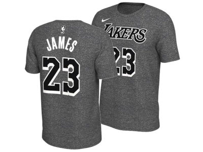 Los Angeles Lakers LeBron James Nike NBA Men's Marled Player T-Shirt
