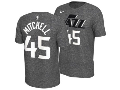Utah Jazz Donovan Mitchell Nike NBA Men s Marled Player T-Shirt 3365d0b4a