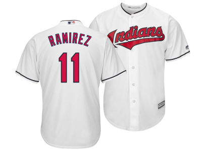 Cleveland Indians Jose Ramirez Majestic MLB Men's Player Replica Cool Base Jersey