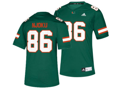 Miami Hurricanes David Njoku adidas NCAA Replica Football Jersey