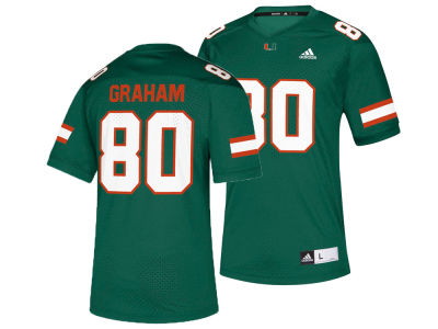 Miami Hurricanes Jimmy Graham adidas NCAA Replica Football Jersey