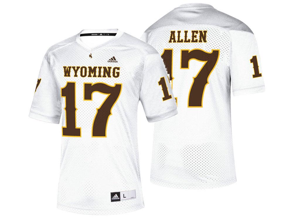 Wyoming Cowboys Josh Allen adidas NCAA Replica Football Jersey ... ebcb94171