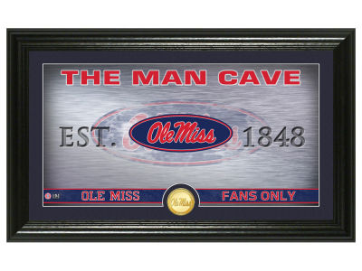 Ole Miss Rebels Highland Mint Man Cave Bronze Coin Panoramic Photo Mint