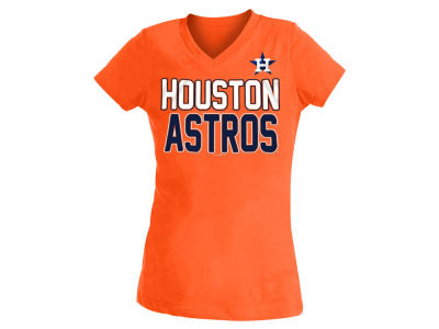 Houston Astros 5th & Ocean MLB Youth Girls V-Neck Team T-Shirt
