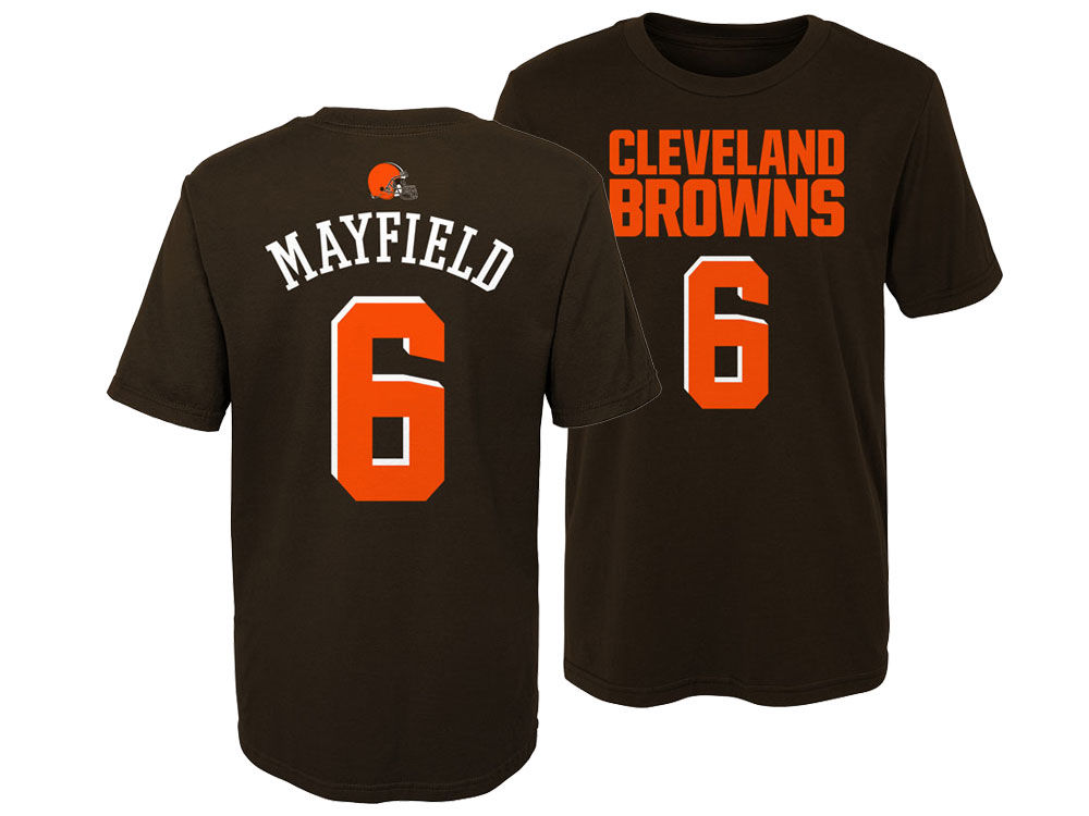 Cleveland Browns Baker Mayfield Outerstuff NFL Kids Mainliner Player T-Shirt   4f560dbdc