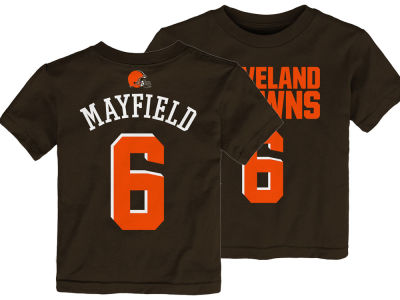 Cleveland Browns Baker Mayfield Outerstuff NFL Toddler Mainliner Player T-Shirt