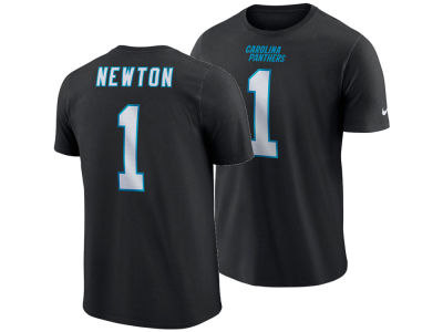 Carolina Panthers Cam Newton Nike NFL Men s Pride Name and Number Wordmark T -shirt d4fe23059