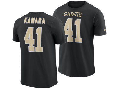 New Orleans Saints Alvin Kamara Nike NFL Men's Pride Name and Number Wordmark T-shirt