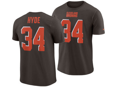 Cleveland Browns Carlos Hyde Nike NFL Men's Pride Name and Number Wordmark T-shirt