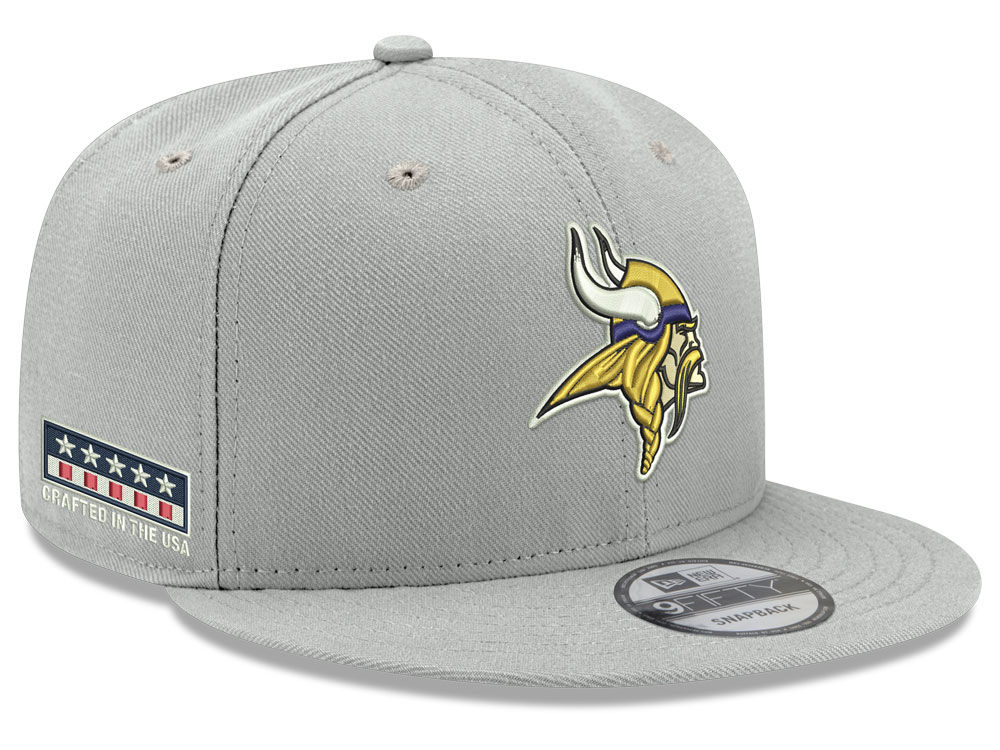 8bd5a5d8cae Minnesota Vikings New Era NFL Crafted in the USA 9FIFTY Snapback Cap ...