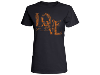 Oklahoma State Cowboys Top of the World NCAA Women's Lace Love T-Shirt