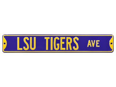 LSU Tigers Authentic Street Signs Avenue Street Sign