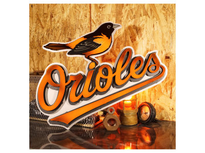 Baltimore Orioles Hex Head Art MLB 3D Metal Artwork