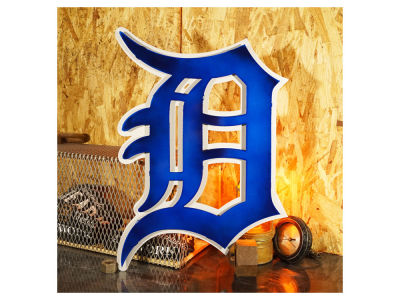 Detroit Tigers Hex Head Art MLB 3D Metal Artwork