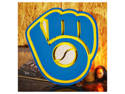Milwaukee Brewers Hex Head Art MLB 3D Metal Artwork