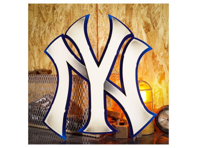 New York Yankees Hex Head Art MLB 3D Metal Artwork