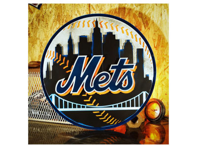 New York Mets Hex Head Art MLB 3D Metal Artwork
