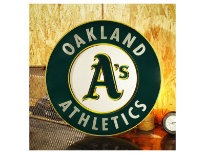 Oakland Athletics Hex Head Art MLB 3D Metal Artwork