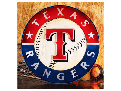 Texas Rangers Hex Head Art MLB 3D Metal Artwork