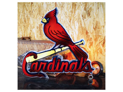 St. Louis Cardinals Hex Head Art MLB 3D Metal Artwork