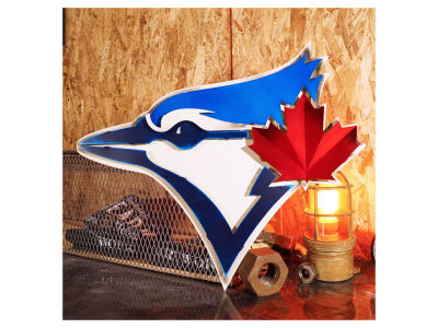 Toronto Blue Jays Hex Head Art MLB 3D Metal Artwork