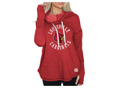 Louisville Cardinals Retro Brand NCAA Women's Funnel Neck Sweatshirt