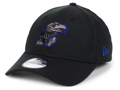 Kansas Jayhawks New Era NCAA Black Pop Flex 39THIRTY Cap 000e95cc08ed