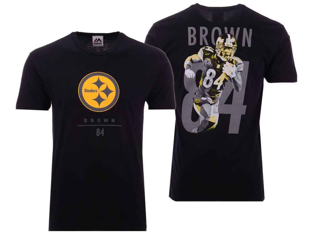 Pittsburgh Steelers Antonio Brown Majestic NFL Men s Notorious Player T- shirt  dd4155a75