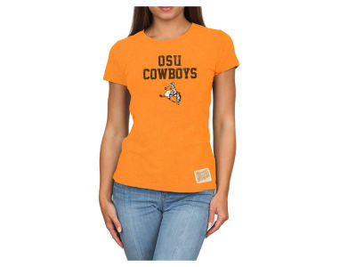 Oklahoma State Cowboys Retro Brand NCAA Women's Tri-blend T-Shirt